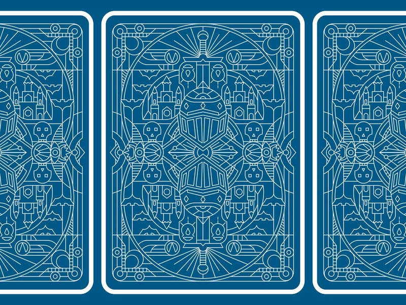 Card Back Color Options card design decks deck of elements deck design deck of cards artdeco poster lineartwork lineart knighthelmet castle sword skull game deck playingcard icons medieval occult sorcery