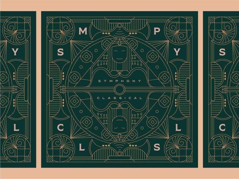 Symphony Classical 3 poster a day card postcard packaging poster art albumart poster branding design illustration geometric lineart art mark minimal line monoline