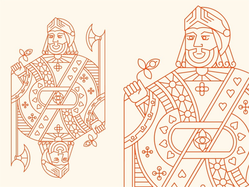 Face Cards Jack Heart deck facecard populer playingcards spades club suit royal heart spade sign queen king symbol illustration card game jack logo line