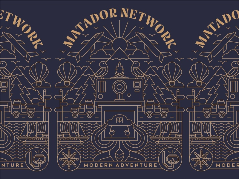 Modern Adventure trees bird clothing apparel mountain forest sea outdoor adventure travel t-shirt illustration t-shirt design t-shirt design illustration geometric minimal lineart monoline line