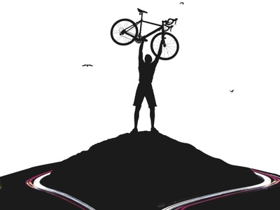 The Hills final illustration bicycle poster
