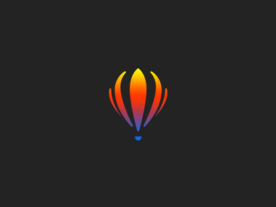 Hot Air Balloon hot air balloon balloon logo brand branding concept dailylogochallenge design identity logo
