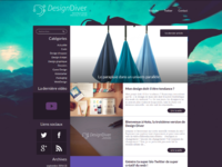 New version of DesignDiver.fr