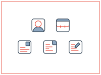 5 line icons