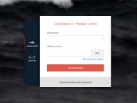 Panel login page