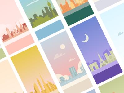 City building background illustration