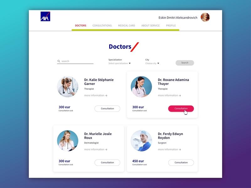 Interface for Telemedicine filter cards service doctors doctor tech technology telemedicine telemed websites website design website web ui ux design ui ux design ui ux designer uidesign interface