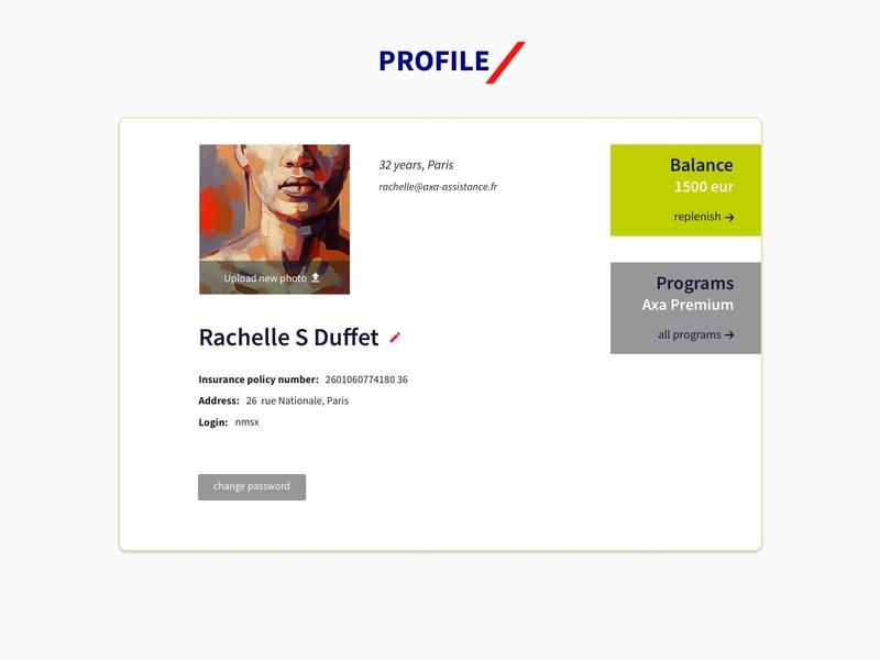 Profile UI Web Design Interface user account profile work project design ux ui ux design ui ux designer uidesign interface ui