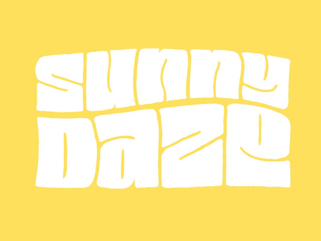 Sunny Daze lettering doodle type bay area summer sunny