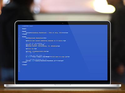 Hackathon landing page landing page html css hackathon code code editor editor