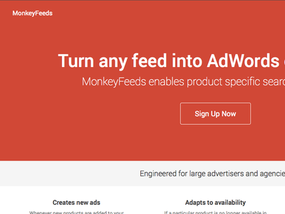 MonkeyFeeds landing page css html bootstrap flat
