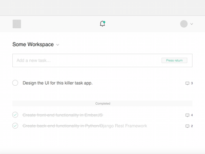 Tasks WIP tasks todo web app ui flat css html python minimal