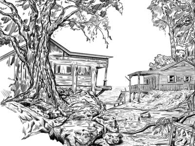 Landscape LineArt - Study