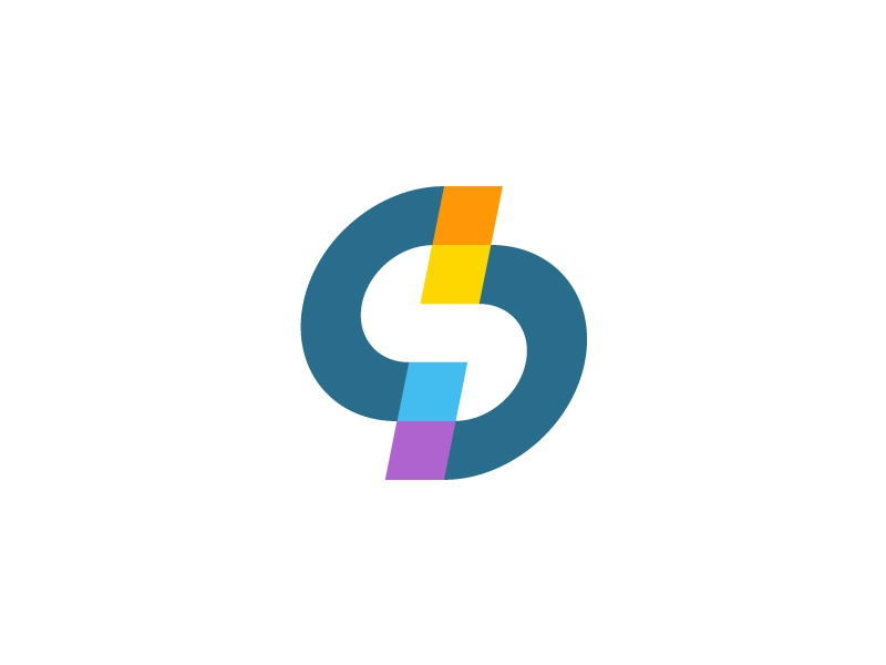 S sign mark logo geomerty colors s