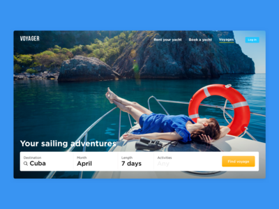 Yacht renting service