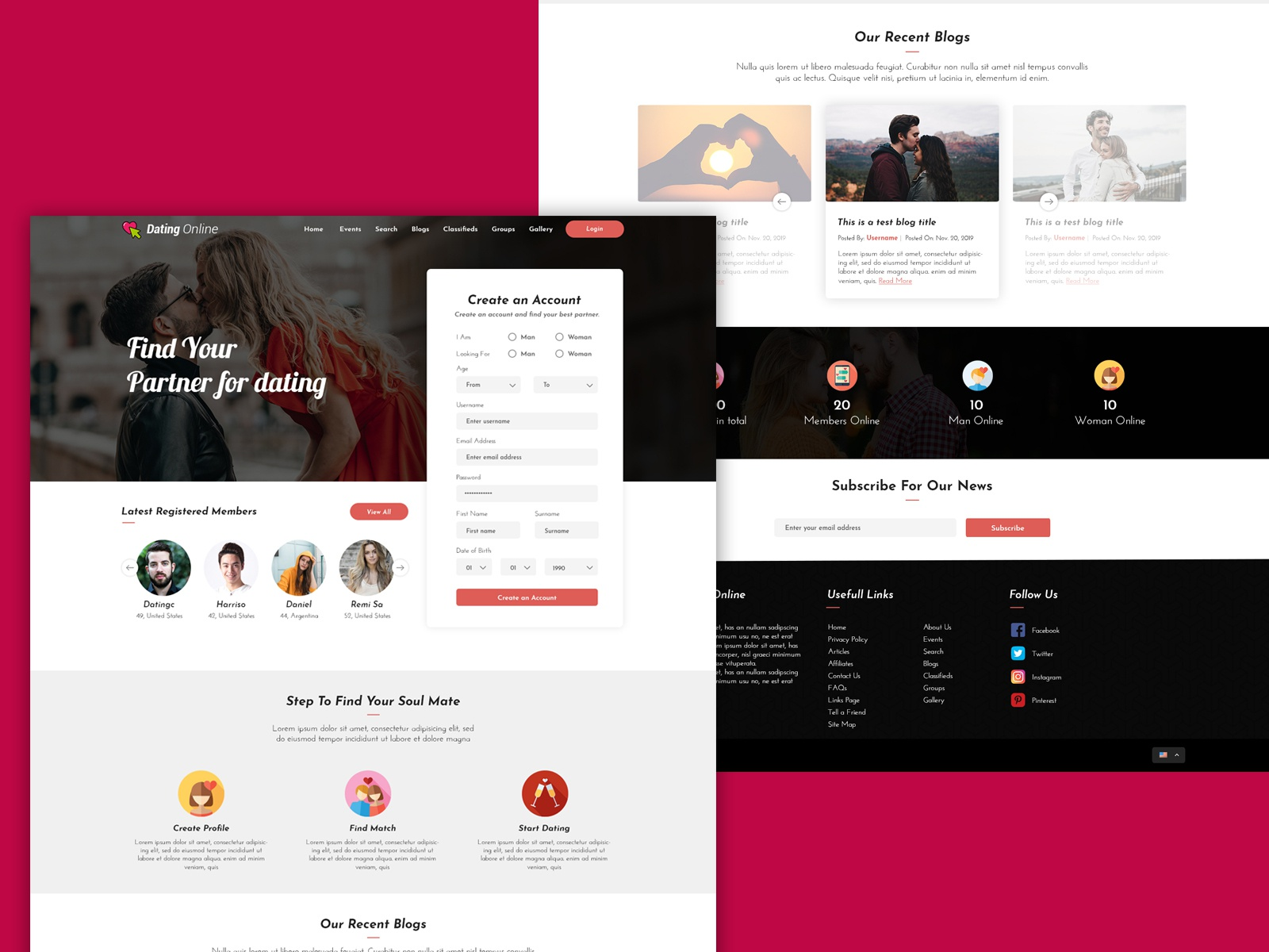 dating site- ul web dezvoltatori