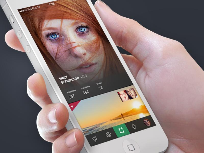 Tuffle App tuffle navigation app ios profile clean simple ui ios7 flat avatar