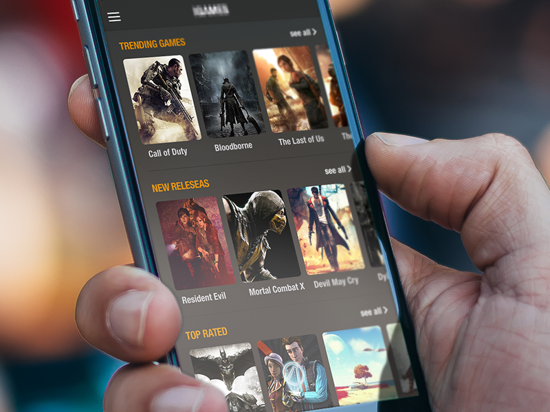 Games computer games ios ui ux clear app playstation dark review design iphone6