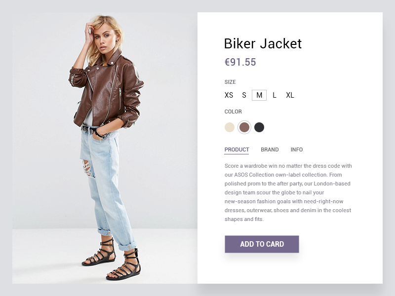 Product Card fashion clear minimal e-commerce ux ui product card ecommerce