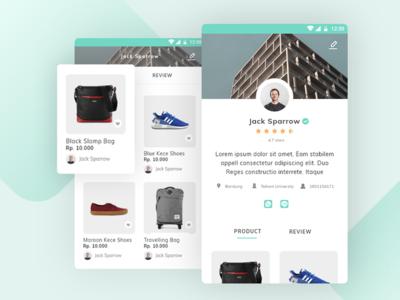 Profile Screen for E-commerce App
