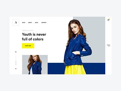 E-commerce fashion concept design web ux ui