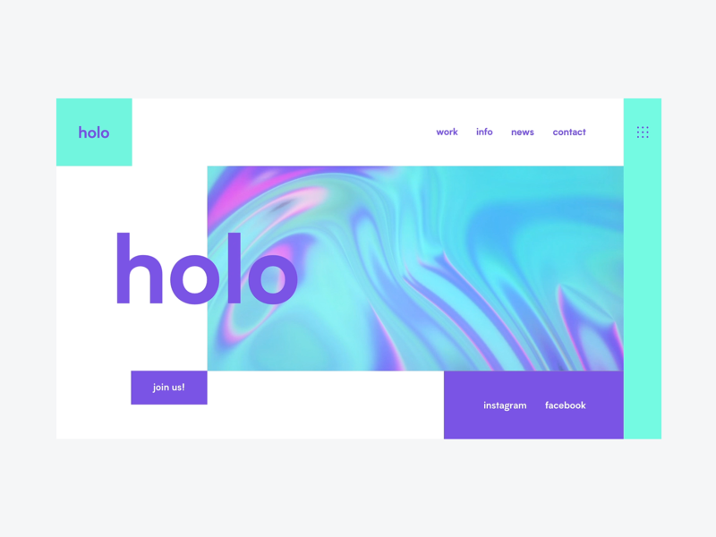 Holo | Simple landing page