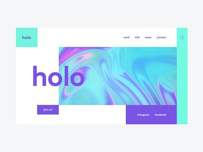 Holo   Simple landing page website animation web ux ui design