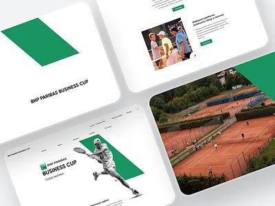 BNP PARIBAS Business Cup   Website layout business sport tennis whitespace website aesthetic minimal layout clean ui uidesign uiux ui web ux design