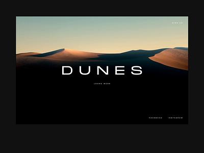 Dunes   Web Concept dark dunes octanerender c4d website aesthetic 3d web ux animation ui minimal design
