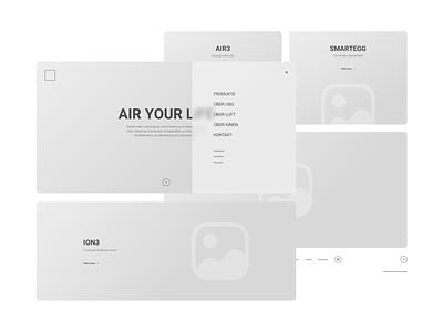 R3 Website   Homepage Wireframe wireframe website aesthetic web ux ui minimal design