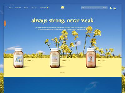 A feel good homepage homepage e-commerce ecommerce