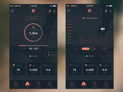 Flip App Design ios mobile dashboard flip app fitness