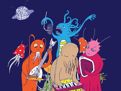 Space Jam gig band alien jam space