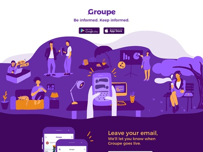 Groupe social messaging app groupe