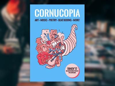 Cornucopia Event Poster gig poster event poster
