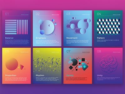 Principles Of Design gestalt gradients minimal posters elements of design principles of design