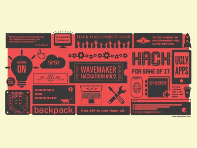 Wavemaker Hackathon hackathon infographic poster