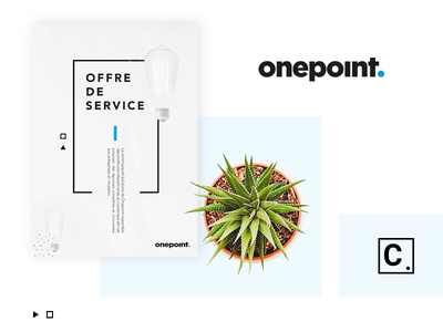 Onepoint compagny corporate mockup blue black éditorial design print artistique direction