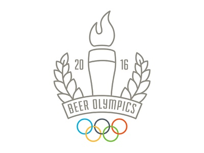 Beer Olympics 2016 illustraiton design games olympic rings drinking rings 2016 torch beer olympics