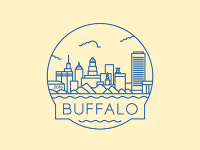 Buffalo - Travel Badge sabres chicken wings illustration icon badge travel city design new york buffalo