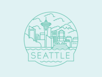 Seattle  - Travel Badge