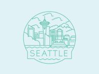 Seattle  - Travel Badge