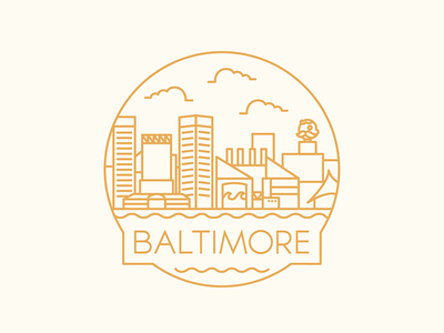 Baltimore - Travel Badge travel nattyboh illustration icon design city maryland baltimore badge