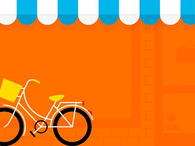 Soldes brick wall shop showcase bike