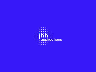 Branding + Identity // JHH applications blue technology branding and identity logo design virtual reality