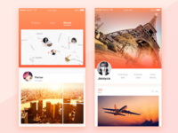 Some pages of social app