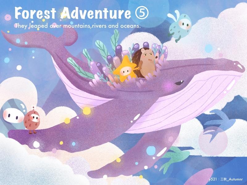 forest adventure 5 illustration design y园糖打卡21天