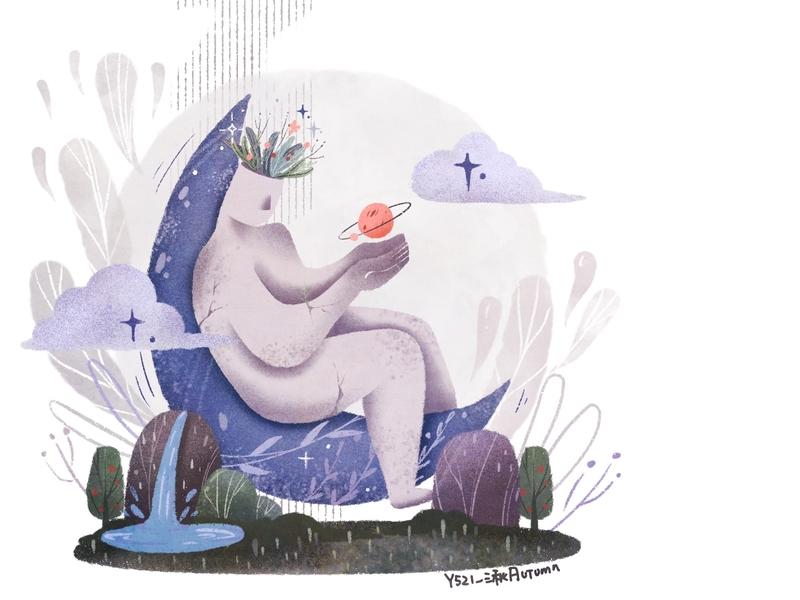 sleepless tonight y园糖打卡21天 illustration design