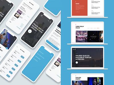 Event Portal design event app ui design abu dhabi uidesign abudhabi responsive design website homepage concept ui