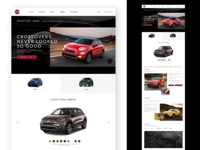 FIAT homepage design